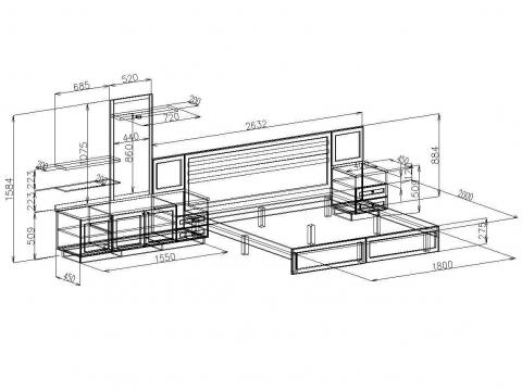Мебель для спальни с чертежами 113